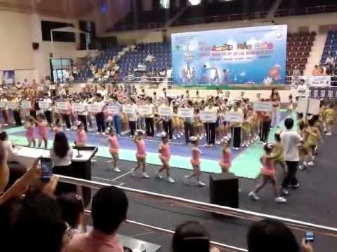 lễ khai mạc cuộc thi aerobic mẫu giáo truyền thống 27/5/2012
