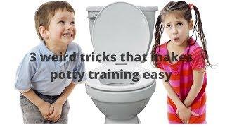 Toilet Training-3 weird tricks that makes potty training easy