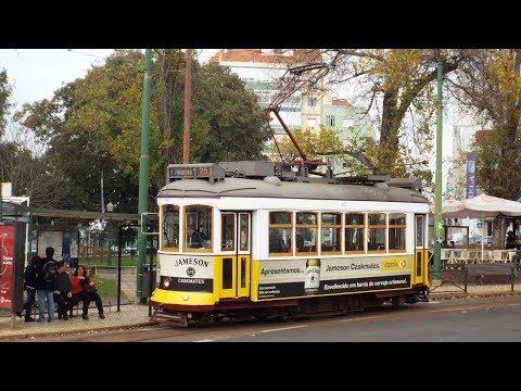 Eléctricos de Lisboa 25E Praça da Figueira ⇒ Campo de Ourique Lisbon Trams Drivers View