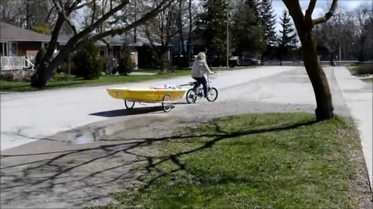 how to make a bike boat dolly trailer DIY - YouTube