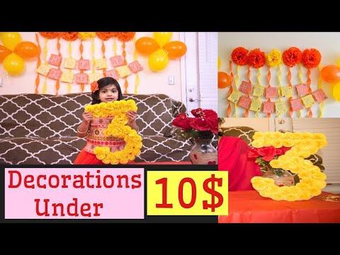 DIY: Simple Birthday Decoration On Budget || Easy Birthday Decorations Under 10$ || Shruthi Diaries