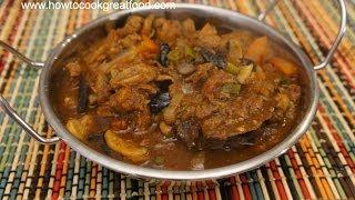 Hot Spicy Lamb & Mushroom Curry Recipe - Indian Cooking Phall Jalfrezi Vndaloo Madras Naga