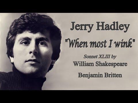 Jerry hadley - when most i wink - william shakespeare: sonnet 43 / britten (1990) mp3