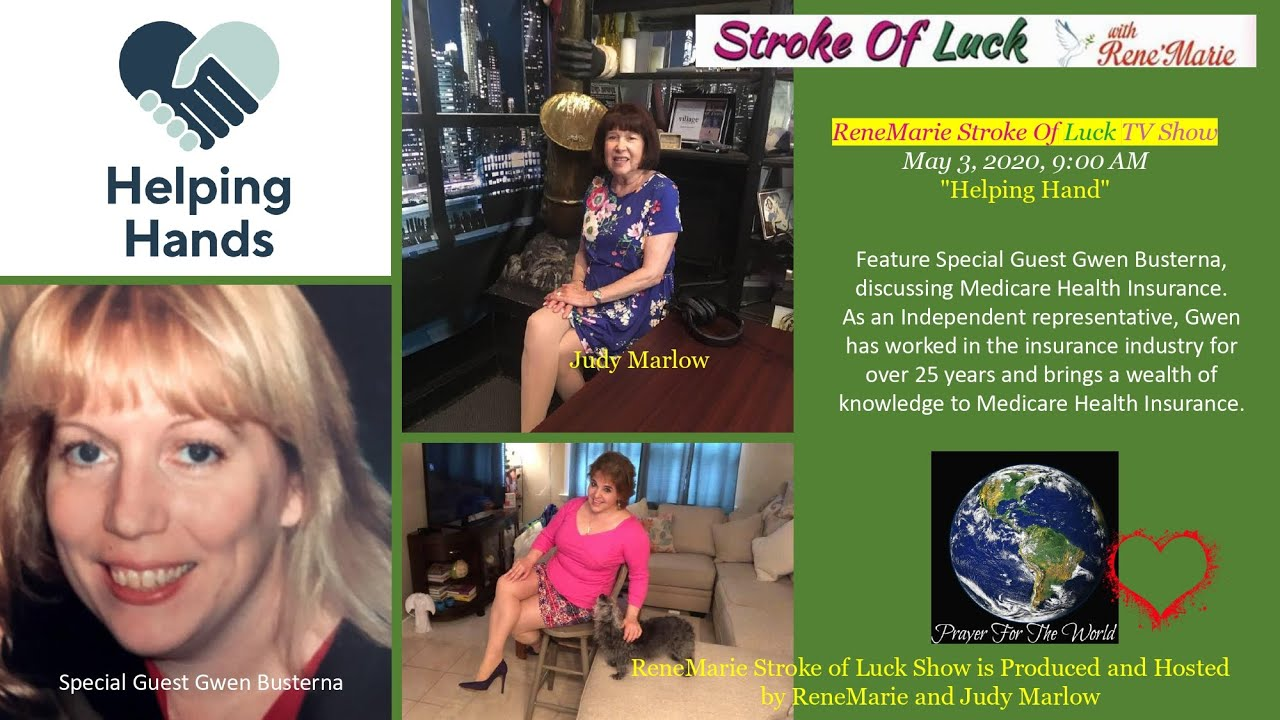 """""""Helping Hand"""" ~ReneMarie Stroke Of Luck TV Show May 3, 2020, 9:00 AM"""