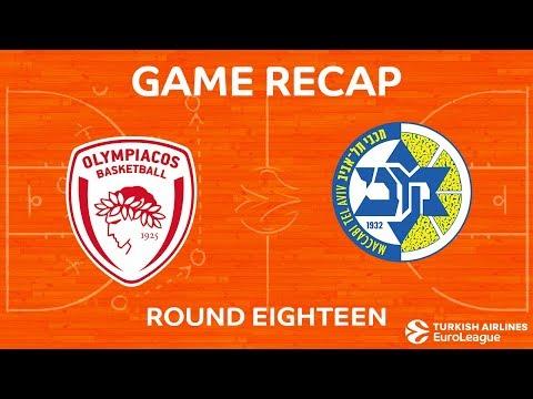 Highlights: Olympiacos Piraeus - Maccabi FOX Tel Aviv