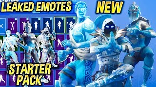 "Fortnite ""FROZEN LEGENDS"" Bundle Showcase With Leaked Dances - Emotes..!"