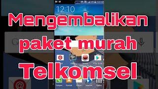 Cara mengembalikan daftar Paket Murah Telkomsel Yang hilang di 363