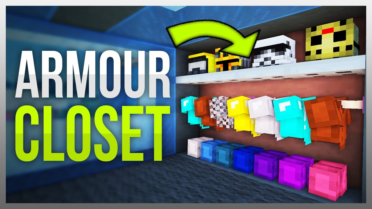 Working ARMOUR CLOSET In Minecraft (Tutorial Included)