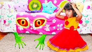Ashu and Monster under Sofa pretend play Children's story