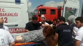Kartepe'de Trafik Kazası! Otomobil İle Kamyonet Çarpıştı: 1'i Çocuk 5 Yaralı