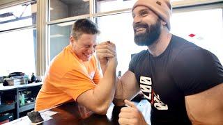 ARM WRESTLING STEVE WILL DO IT!