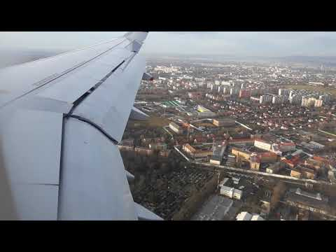 Landing in Beautiful Budapest, Hungary | Air France landing in Beautiful City Budapest