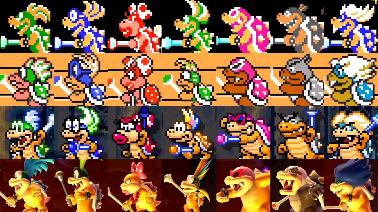 Super Mario Maker 2 All Koopaling Battles Youtube