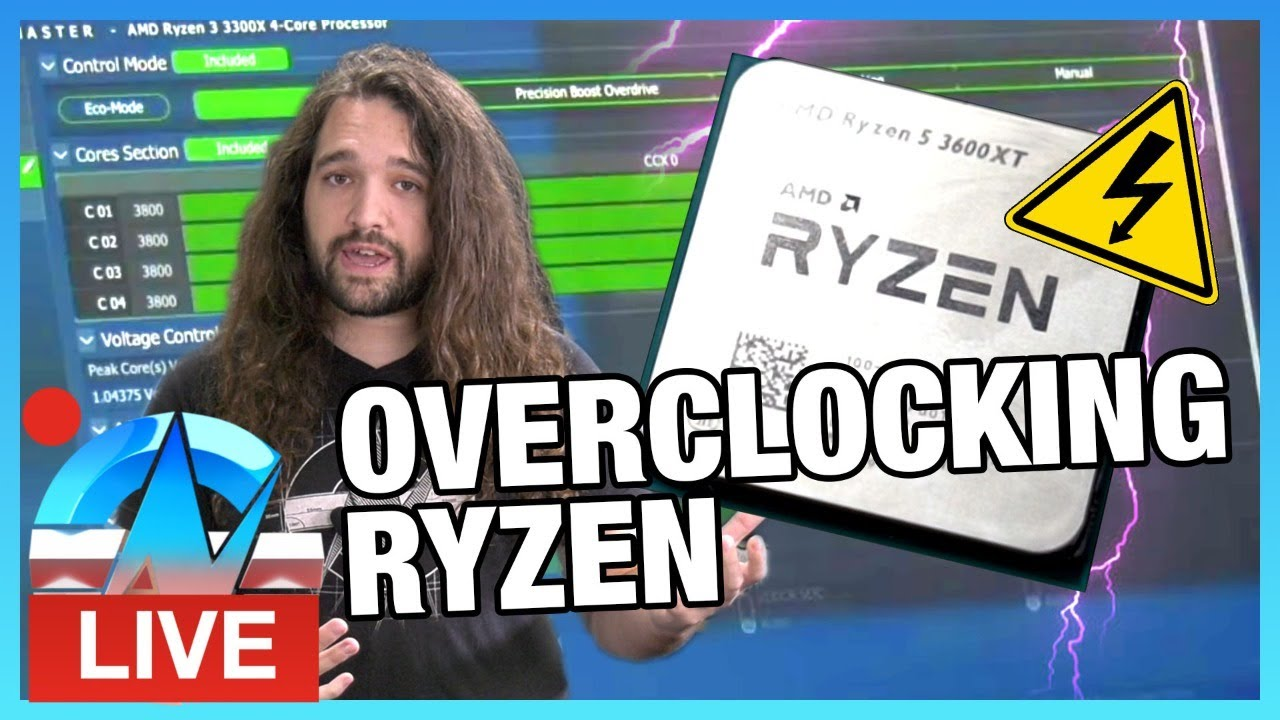 LIVE: How to Overclock AMD Ryzen 5 3600XT, Infinity Fabric, & Memory (Basics) - Gamers Nexus