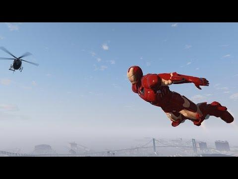 Co dokáže Iron man v Gta V
