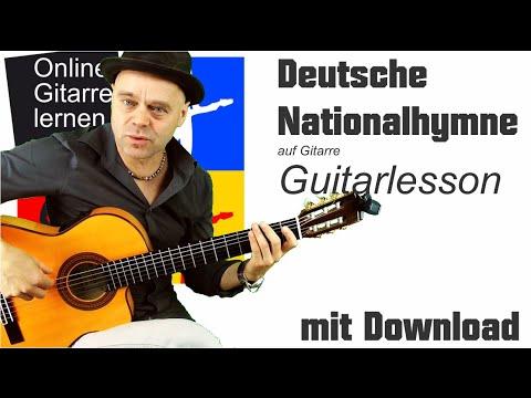 Deutsche Nationalhymne in G Dur Guitarlesson Download