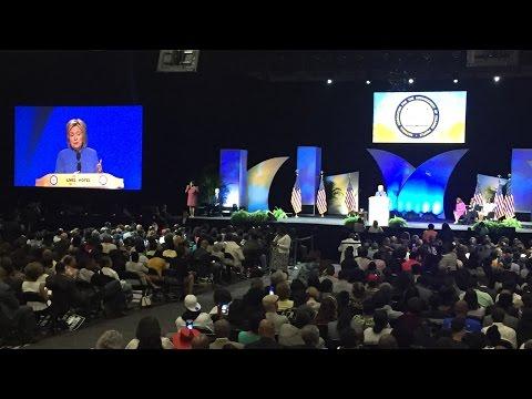 Hillary Clinton speaks in Cincinnati