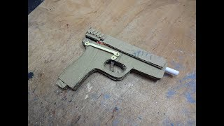 How To Make A Pistol That Shoots - With Magazine - (cardboard Gun)