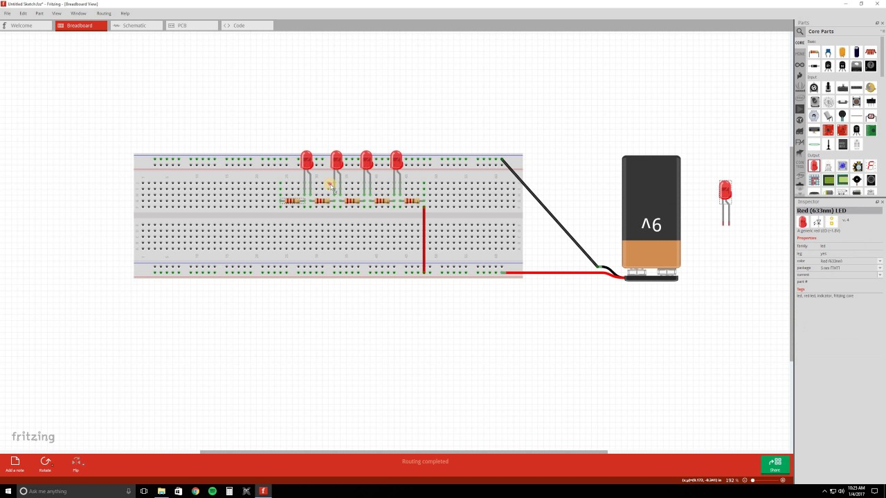 How To Building Your First Circuit With Fritzing Absolute Relay 5 Pin Beginners Tutorial Episode 2