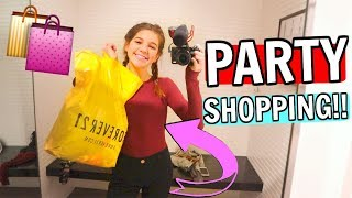 Party Outfit Shopping with my (CRAZY!) Sister no Parents!!