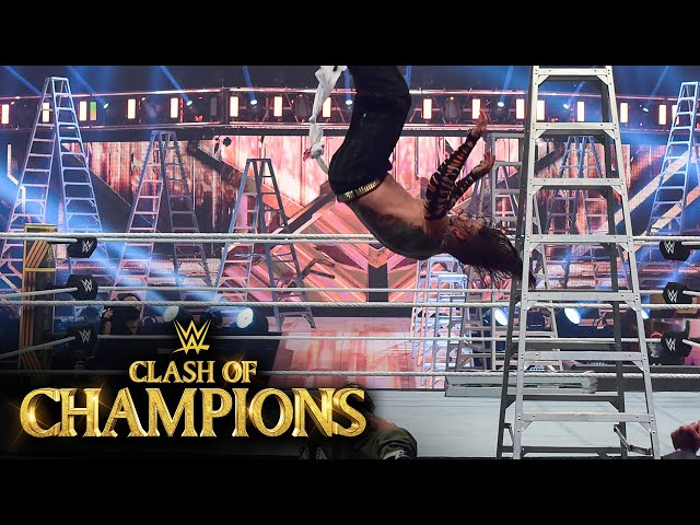 Hardy Swanton Bombs off a ladder onto Zayn: WWE Clash of Champions 2020 (WWE Network Exclusive)