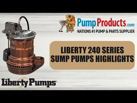 Liberty 247, Sump Pump with Vertical Magnetic Float Switch, 1/4 HP, 115  Volts, 1 Phase, 1-1/2