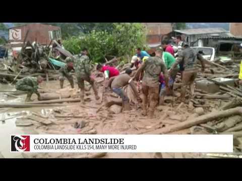 Colombia landslide kills 154, many more injured
