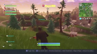 Playing some Fortnite Battle Royale trying to get dubs