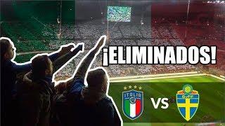 Así se vivió la ELIMINACIÓN de ITALIA desde la tribuna del SAN SIRO | Italia vs Suecia 2017