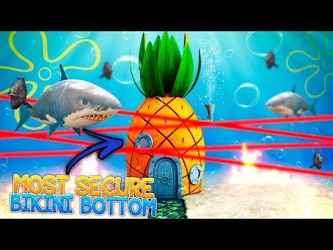 WORLD'S MOST SECURE / SECRET BIKINI BOTTOM! (Most Secure Base Challenge)
