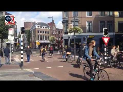 A look in the city center of Utrecht (Netherlands)