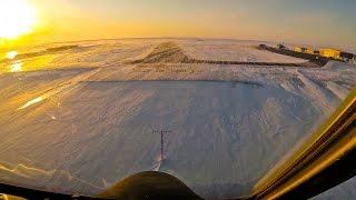 Beautiful Sunset Landing in the Arctic (C-130)