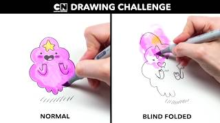 Drawing LSP BLIND FOLDED | Adventure Time | Cartoon Network