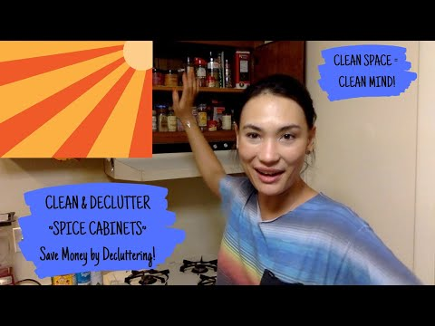 Save Money by Decluttering! - Kitchen Cabinets - Clean Space = Clean Mind!