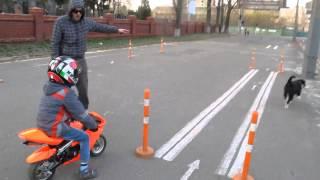 Первый урок езды на мотоцикле!