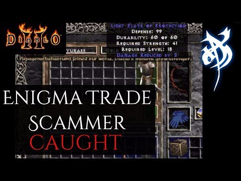 Enigma Trade Scammer Caught - Diablo 2
