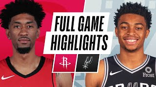 ROCKETS at SPURS | FULL GAME HIGHLIGHTS | January 14, 2021