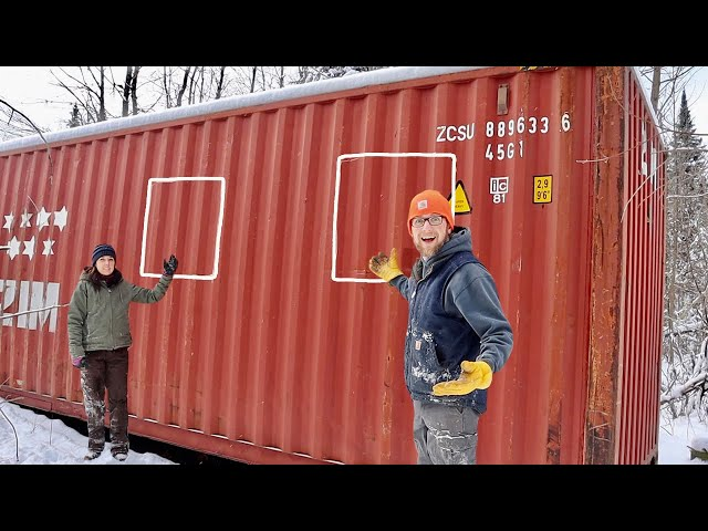 Our Shipping Container Cabin Build Layout & More Land Clearing at the OFF-GRID Property