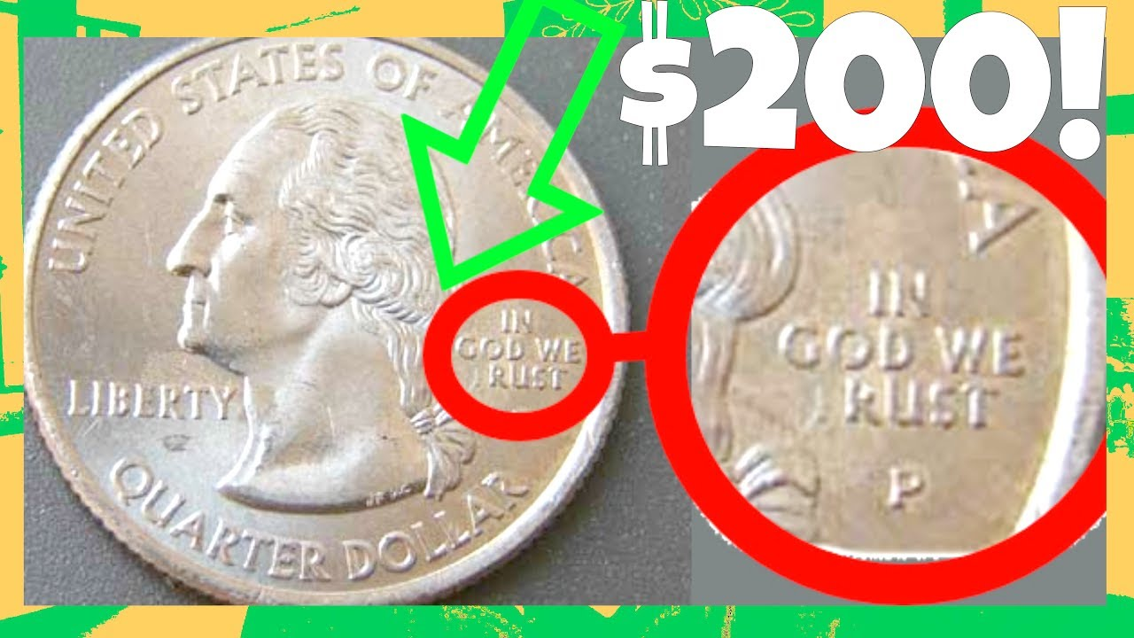 Rare State Quarters Worth Good Money In God We Rust Quarter - Rare us state quarters