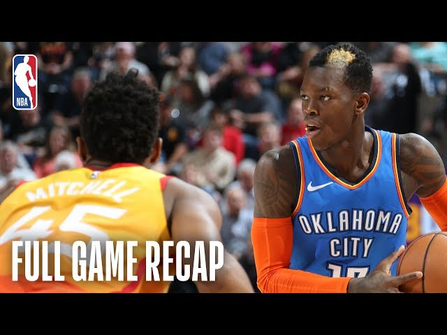 THUNDER vs Jazz | Dennis Schroder Leads OKC In Scoring In Utah | March 11, 2019