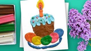 Развивающее занятие для детей | Лепим из пластилина Пасхальный Кулич и цветные Яйца