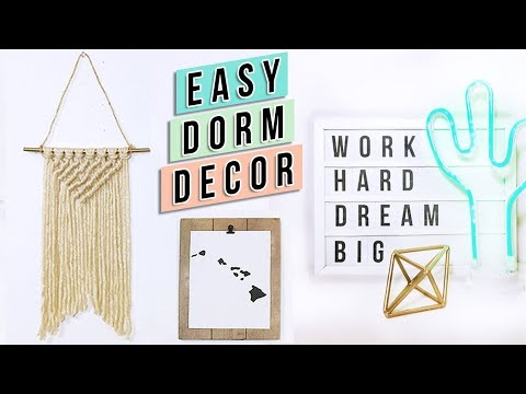 5 Easy DIY Dorm Room Decor Ideas Under $5! + GIVEAWAY WINNER | Back to School 2017 Morning Routine