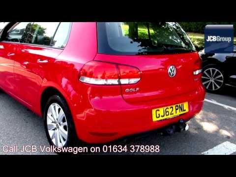 2012 Volkswagen Golf Match 1.6l Tornado Red GJ62PNL for sale at JCB VW Medway