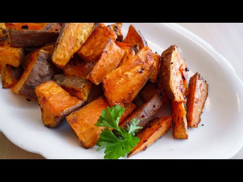 Geröstete Süßkartoffeln (Roasted Sweet Potatoes)
