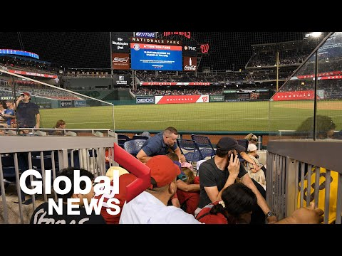 Fans at Washington Nationals game take cover after shooting reported outside stadium