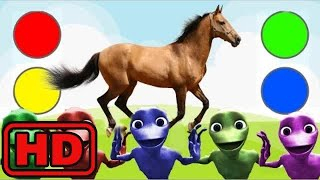 Kid -Kids -Learn Colors with FARM Animals | Learn Animals Name | Alien Dance and Song for Kids/Dame