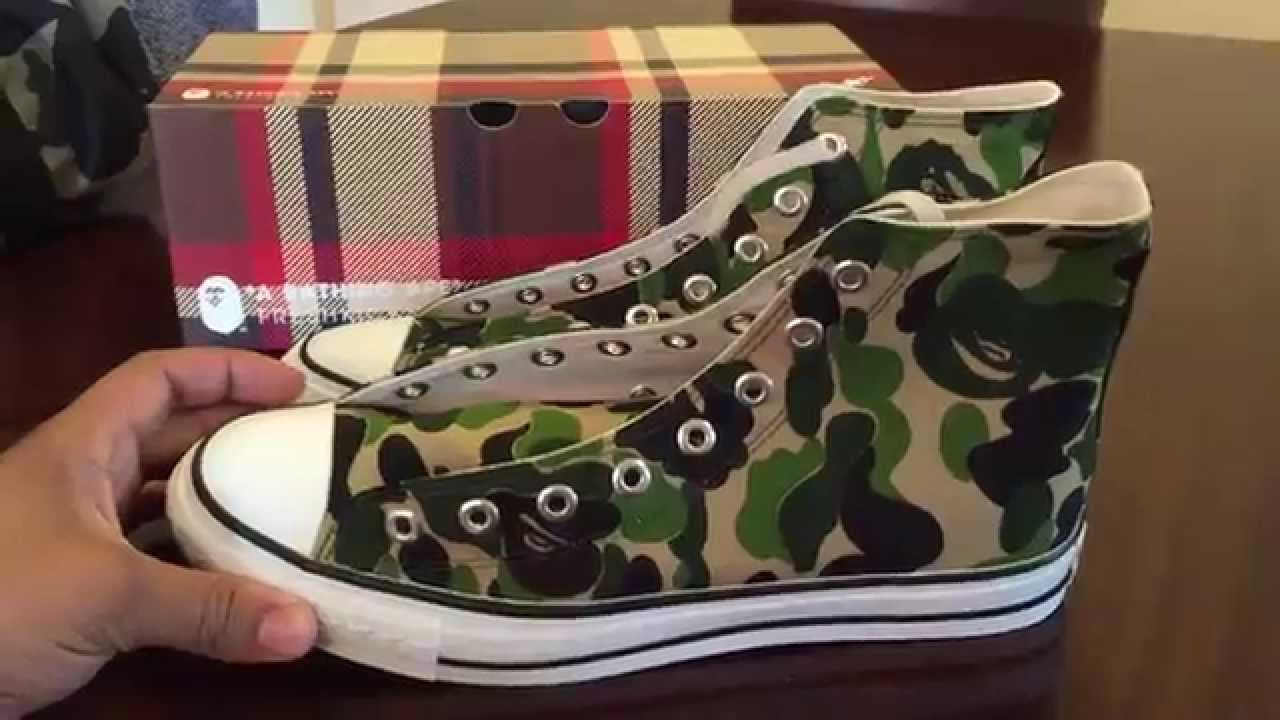 1e81c6c02e82 Bape Ape Sta Canvas Hi Camo shoes review - YouTube