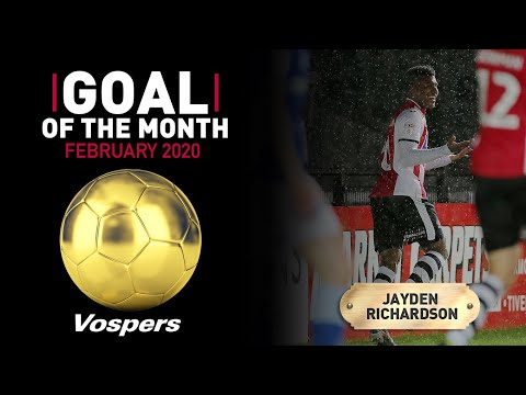 🏆 Vospers' Goal Of The Month Result: February 20 | Exeter City Football Club
