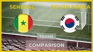 SENEGAL - SOUTH KOREA ● Football Teams Comparison [11/06/2018]