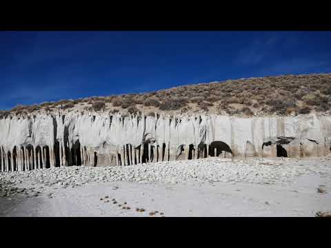 Scenic View of the Amazing Lake Crowley Columns Geological Feature - Mono County, California